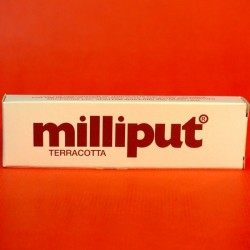 Milliput terracotta pate epoxy.